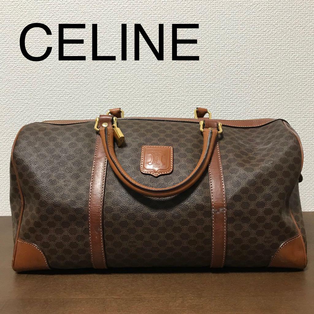 69578c1686e6 メルカリ - CELINE セリーヌ マカダム 柄 ボストンバッグ 旅行鞄 ...