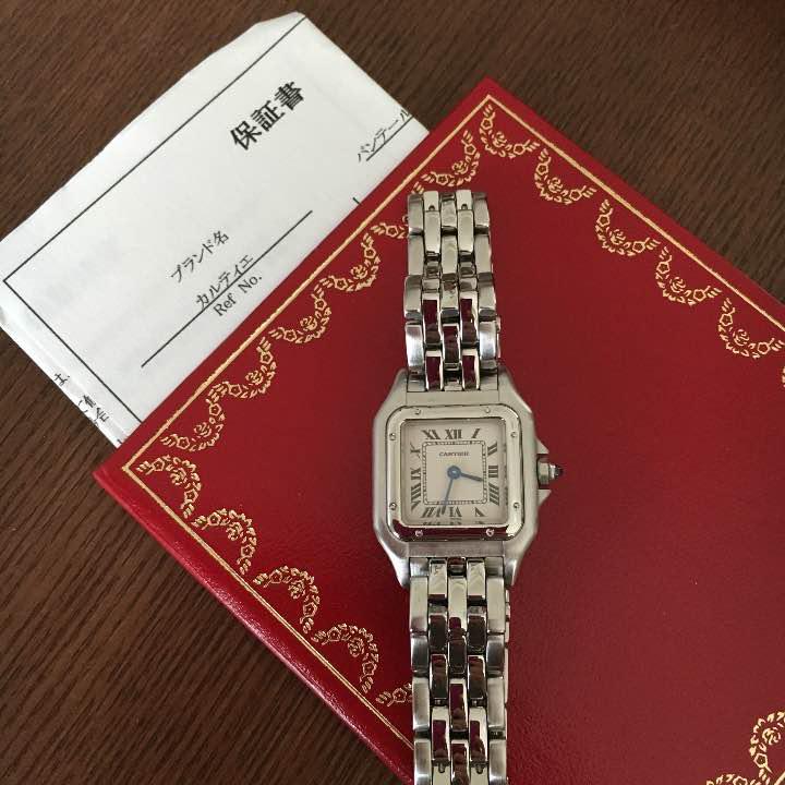 detailed pictures bf39d 65547 カルティエパンテールSMステンレスマストタンクレディース腕時計辺見えみり(¥110,000) - メルカリ スマホでかんたん フリマアプリ