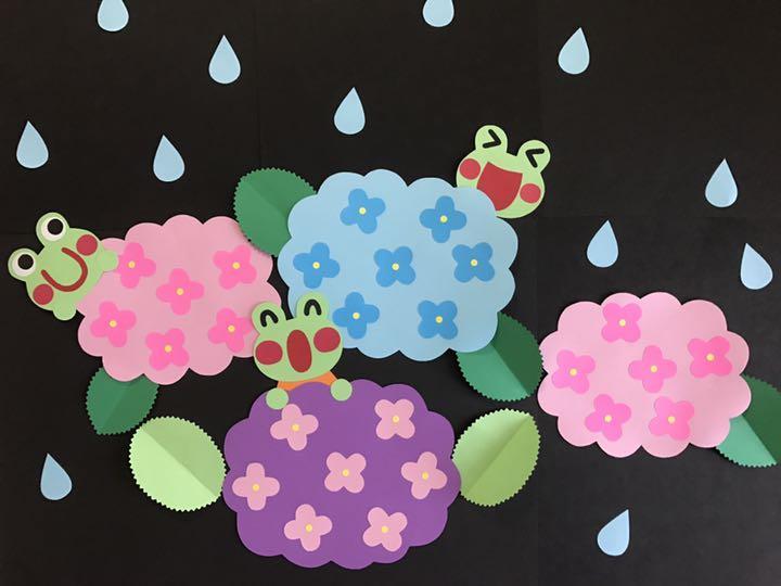 6月 あじさい 梅雨 壁面飾り あじさいとかえるたち600 メルカリ スマホでかんたん フリマアプリ
