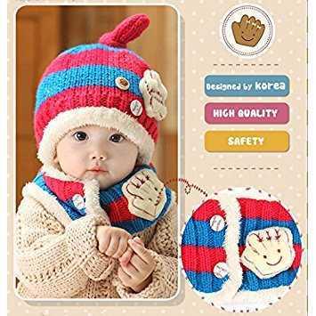 50dc9b535adc1 メルカリ - ニット帽子&マフラー ニットキャップ 赤ちゃん 防寒帽子 ...