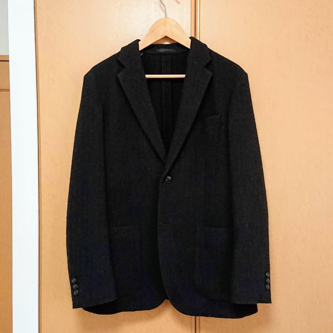 【週末値下げ】UNIQLO ツイードジャケット Lサイズ ダークブラウン
