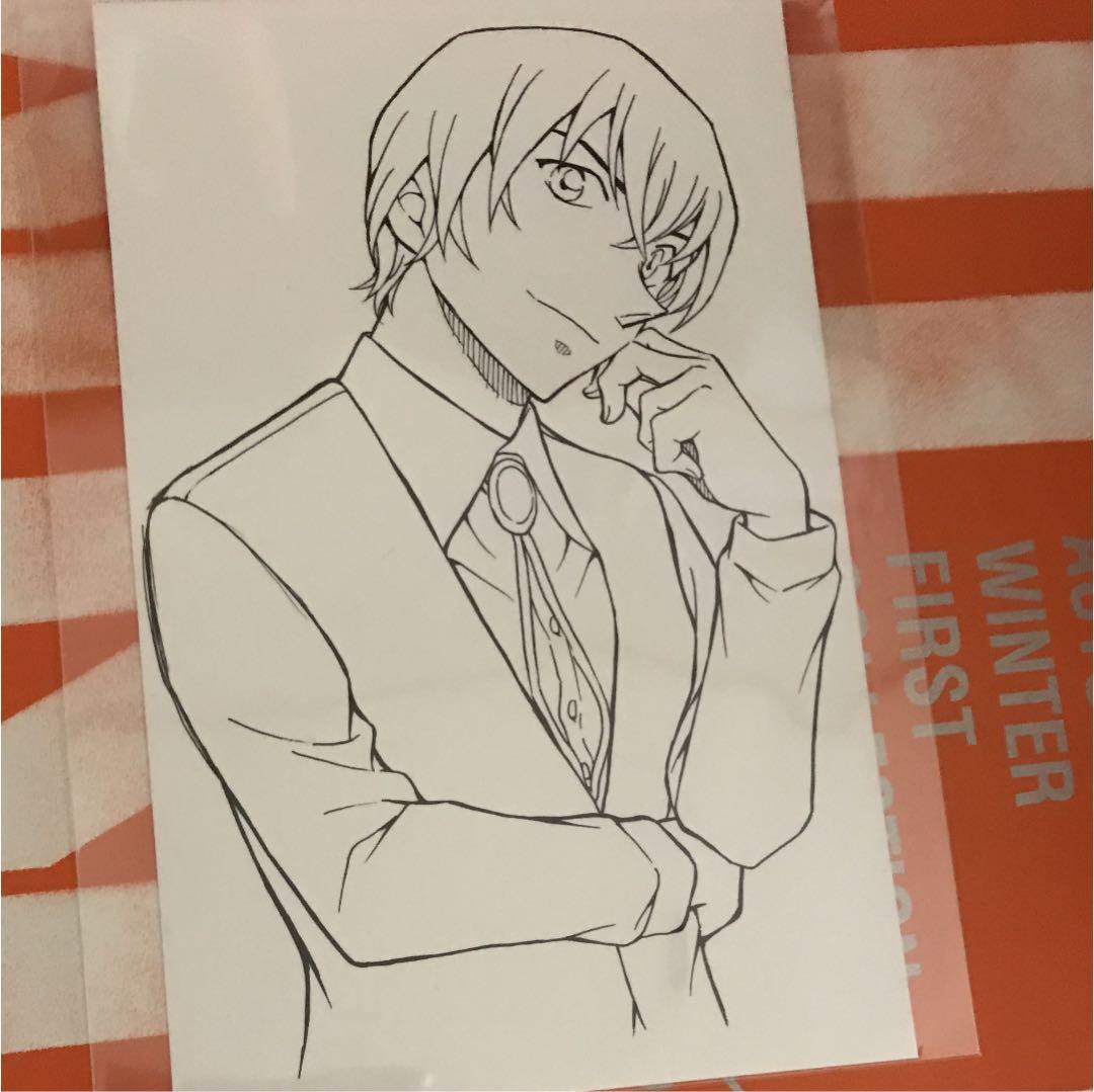 メルカリ 名探偵コナン安室透ぬりえカード キャラクターグッズ