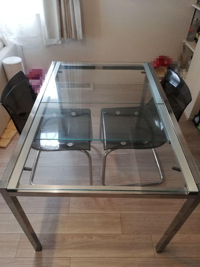 ガラス テーブル ikea