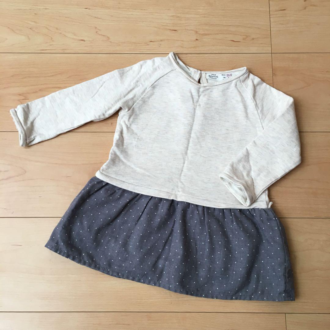 004cf2752aa07 メルカリ - Zara Baby Girl ワンピース 86サイズ  ザラベイビー  (¥400 ...