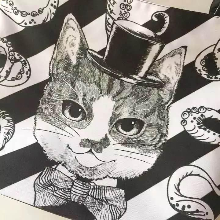 ae42da79009d メルカリ - オリジナル はちわれ猫&たこ キジトラ 黒猫 ファスナー付き ...