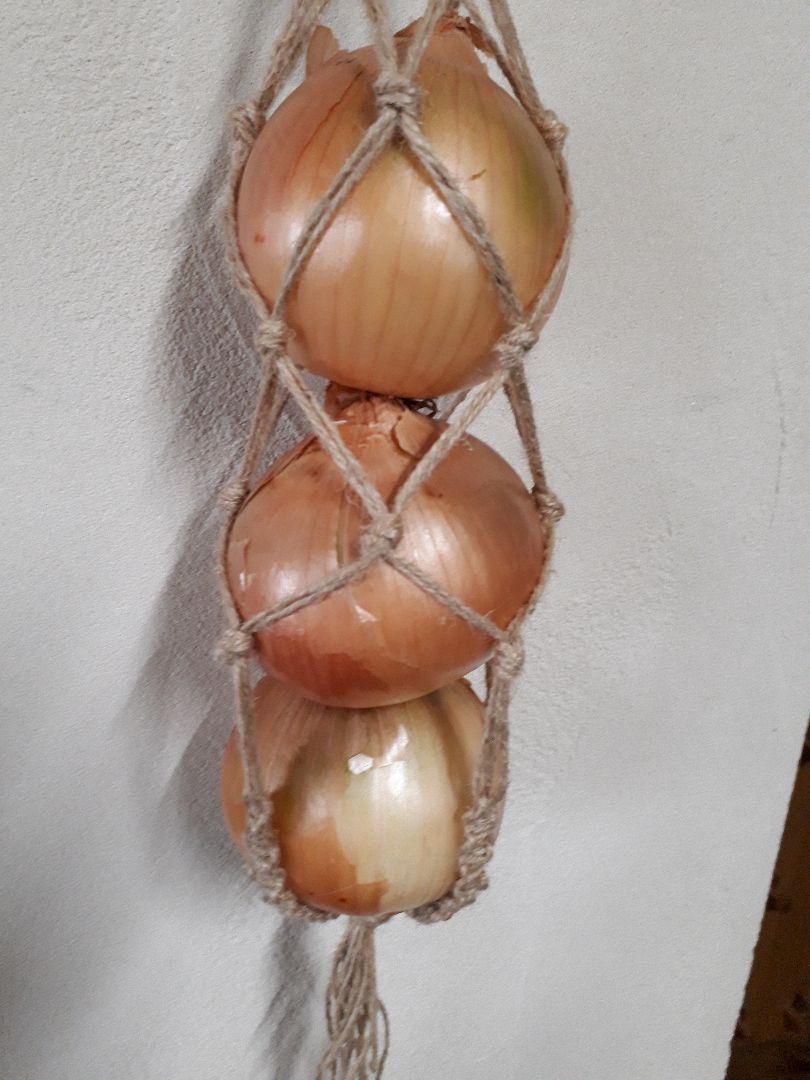 84375435b147f メルカリ - 野菜ストッカー(ハンドメイド) マクラメ ナチュラル 麻ひも ...