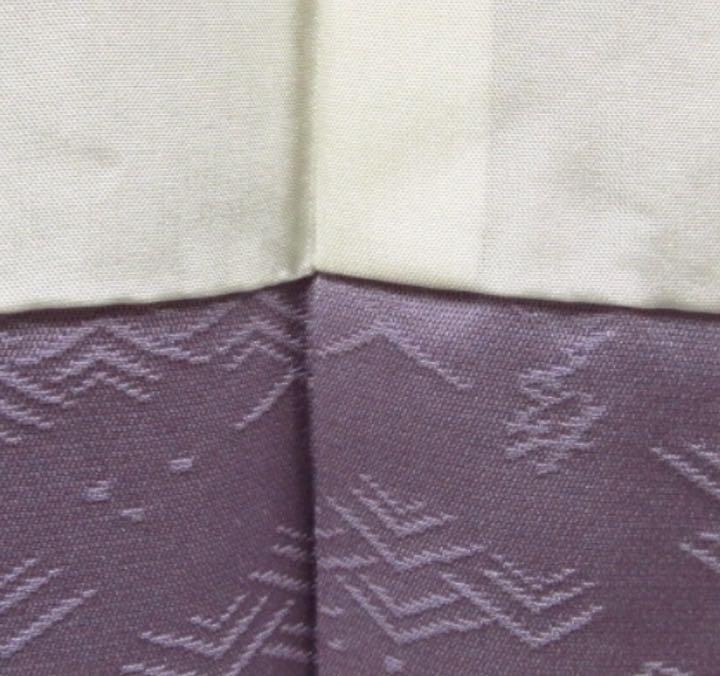 JTNK03美しい藤色 仕付糸付きデッドストック正絹