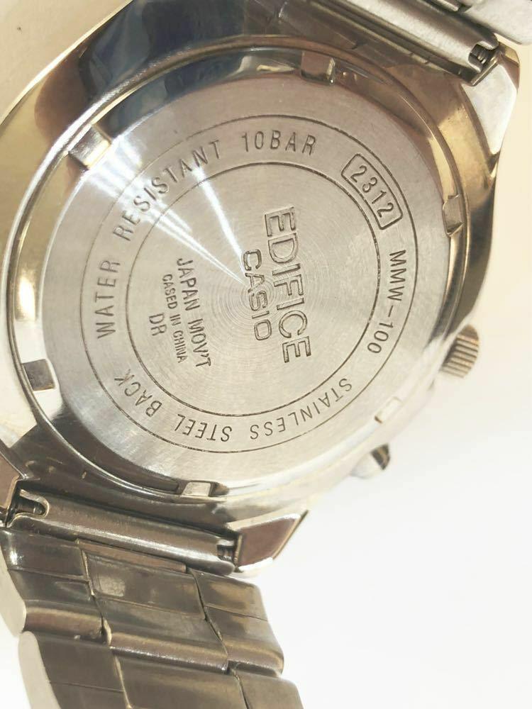 45ce807a97 メルカリ - 稼働品 カシオ 初期型EDIFICE MMW-100 クオーツ 腕時計 コマ ...