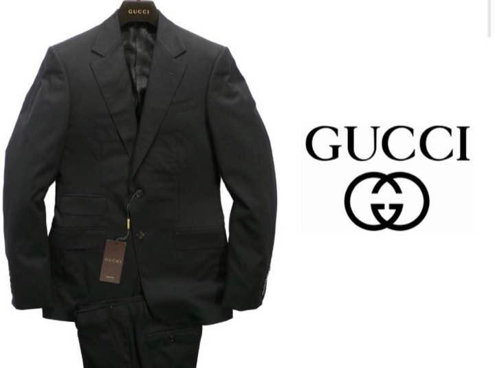online retailer cd065 cf09b GUCCI/グッチ ナチュラルストレッチ黒スーツ 定価 41万円(¥131,000) - メルカリ スマホでかんたん フリマアプリ