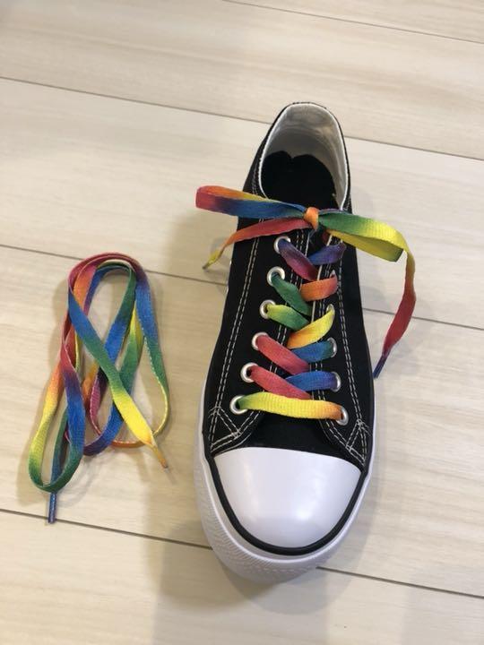 靴紐レインボー110㎝