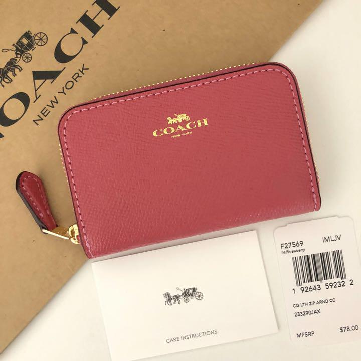 innovative design 89aa2 b0a6c COACH コーチ コインケース 小銭入れ ストロベリー ピンク(¥7,500) - メルカリ スマホでかんたん フリマアプリ