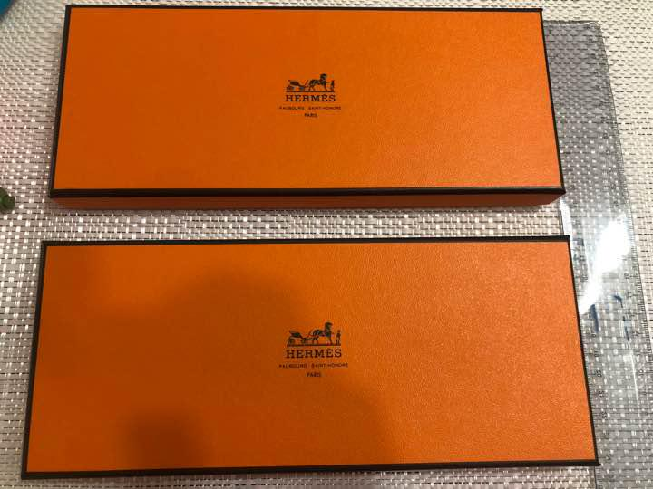 Hermes empty box set of 2