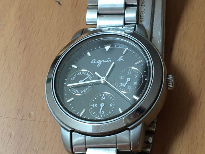 new products 4e872 6be24 お値下げ♪ Agnes b. 腕時計 アニエスベー agnes b. 黒(¥3,000) - メルカリ スマホでかんたん フリマアプリ
