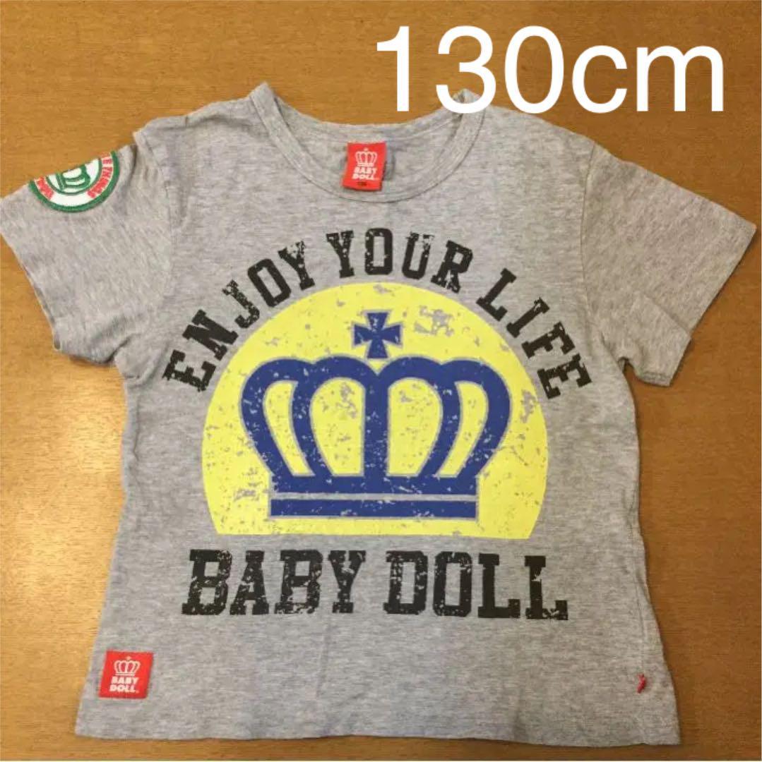 50f883bbc2dc7 メルカリ - BABYDOLL ベビードール Tシャツ グレー 130cm  トップス(T ...