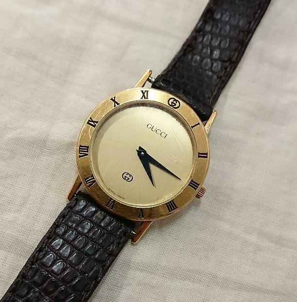 finest selection dfdd6 680fb GUCCI オールドグッチ ヴィンテージ 腕時計 3000jr(¥8,800) - メルカリ スマホでかんたん フリマアプリ