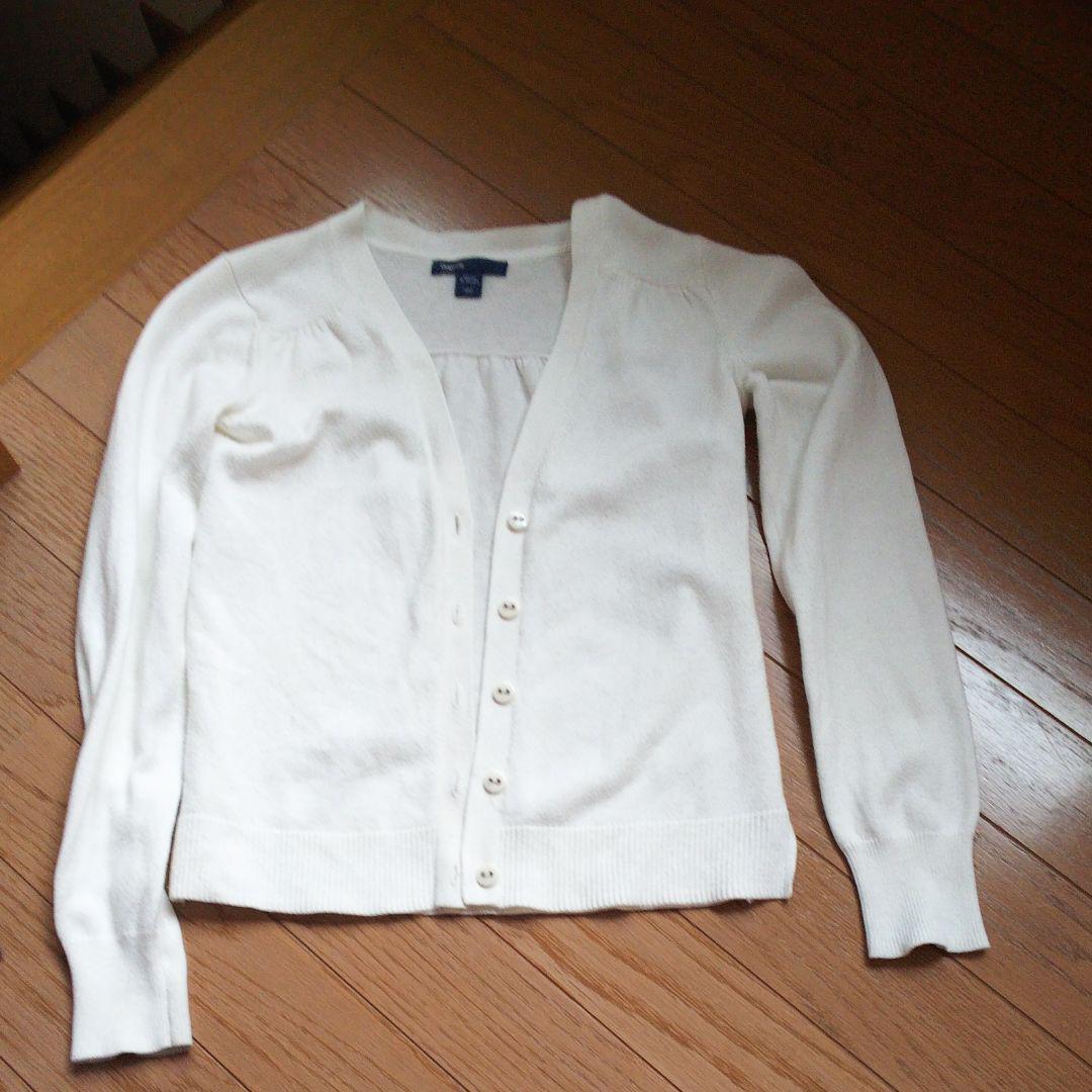 dfce13afe0b806 メルカリ - たちこ ギャップキッズ140センチ白カーディガン 【トップス ...