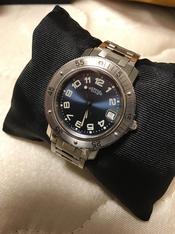 newest c67f2 3bc9f Regaloさん専用エルメス メンズ 腕時計 クリッパー ダイバーズウォッチ(¥60,000) - メルカリ スマホでかんたん フリマアプリ