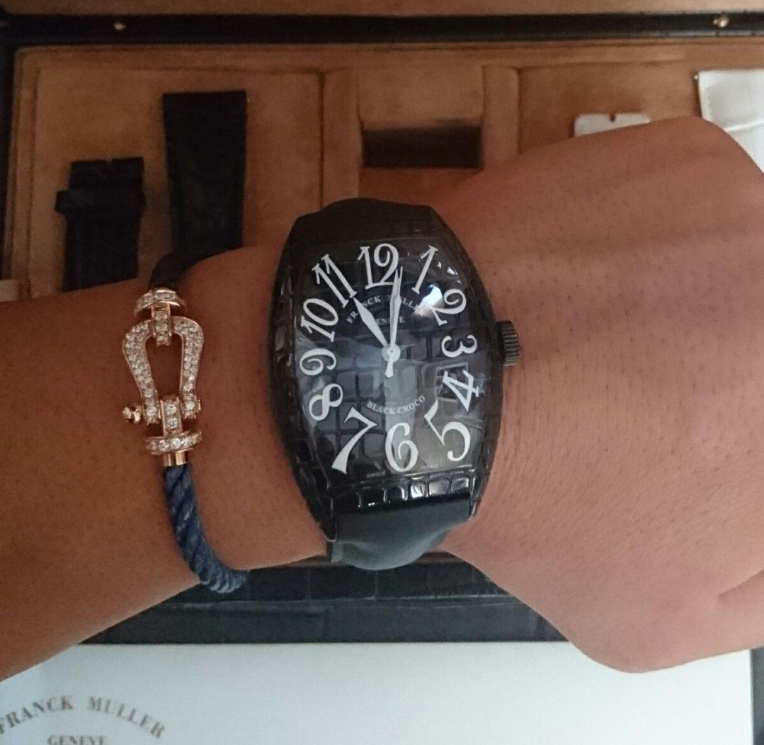 90b9020da037 メルカリ - 画像追加【フランクミュラー】ブラッククロコ 【腕時計 ...