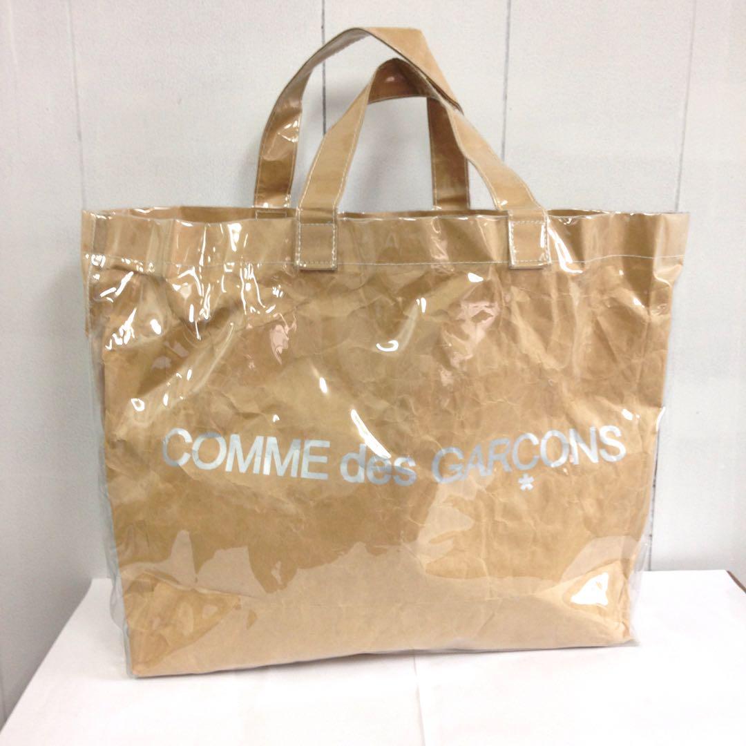 68fa826fa383 メルカリ - COMME des GARCONS PVCトートバッグ 【コム デ ギャルソン ...