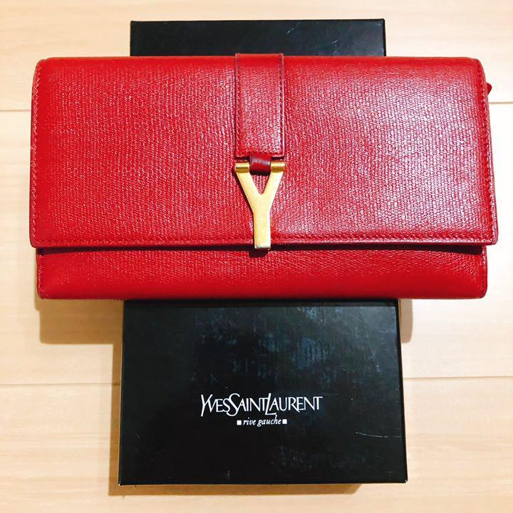 quality design 661bf d8dc8 イヴサンローラン 長財布 レディース 赤 Yves Saint Laurent(¥9,800) - メルカリ スマホでかんたん フリマアプリ