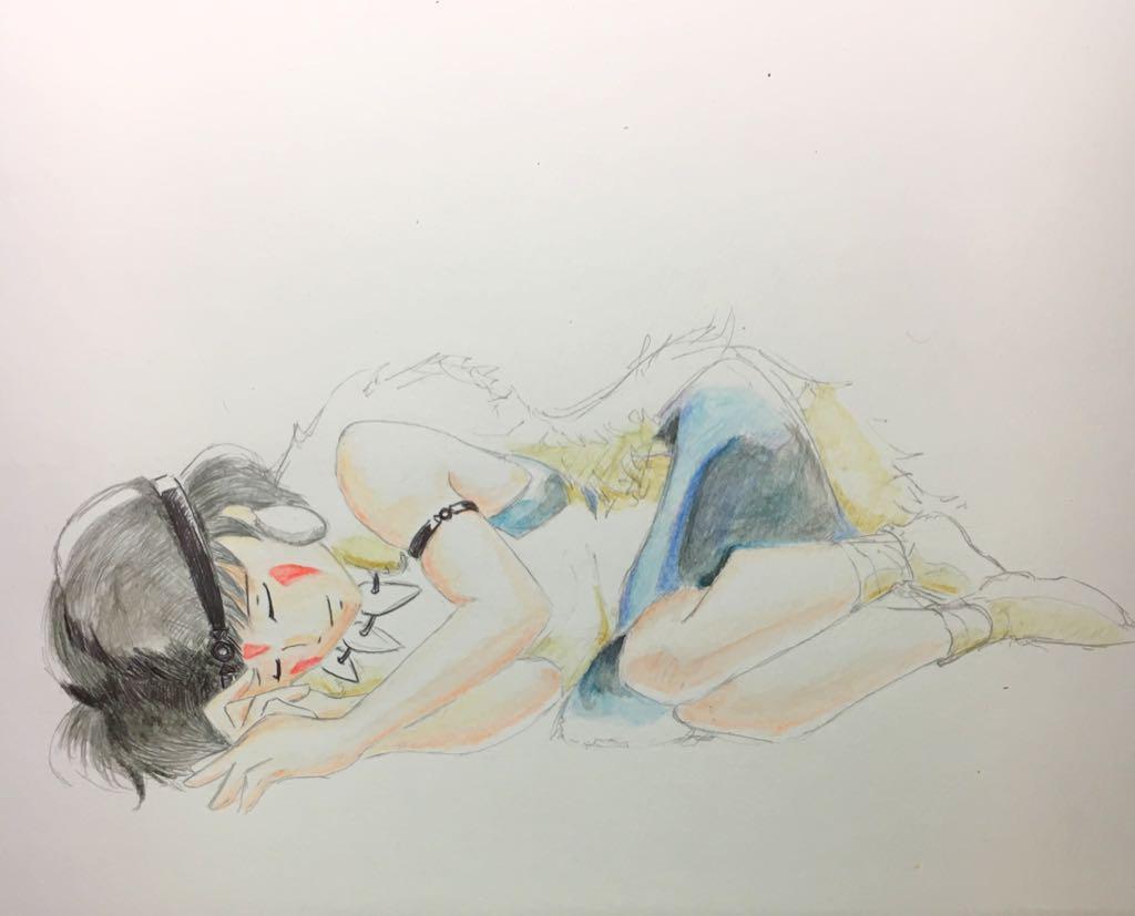 メルカリ スタジオジブリ もののけ姫 イラスト アート写真 555