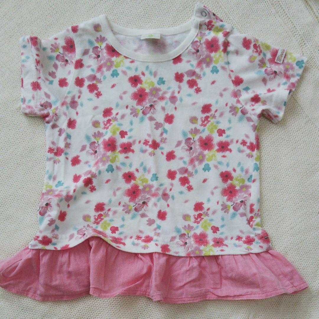 1efb1ec9863c7 メルカリ - 赤ちゃん本舗 花柄 Tシャツ  トップス  (¥400) 中古や未 ...