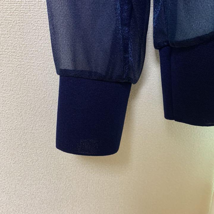 Chouchou in shiny blue jersey