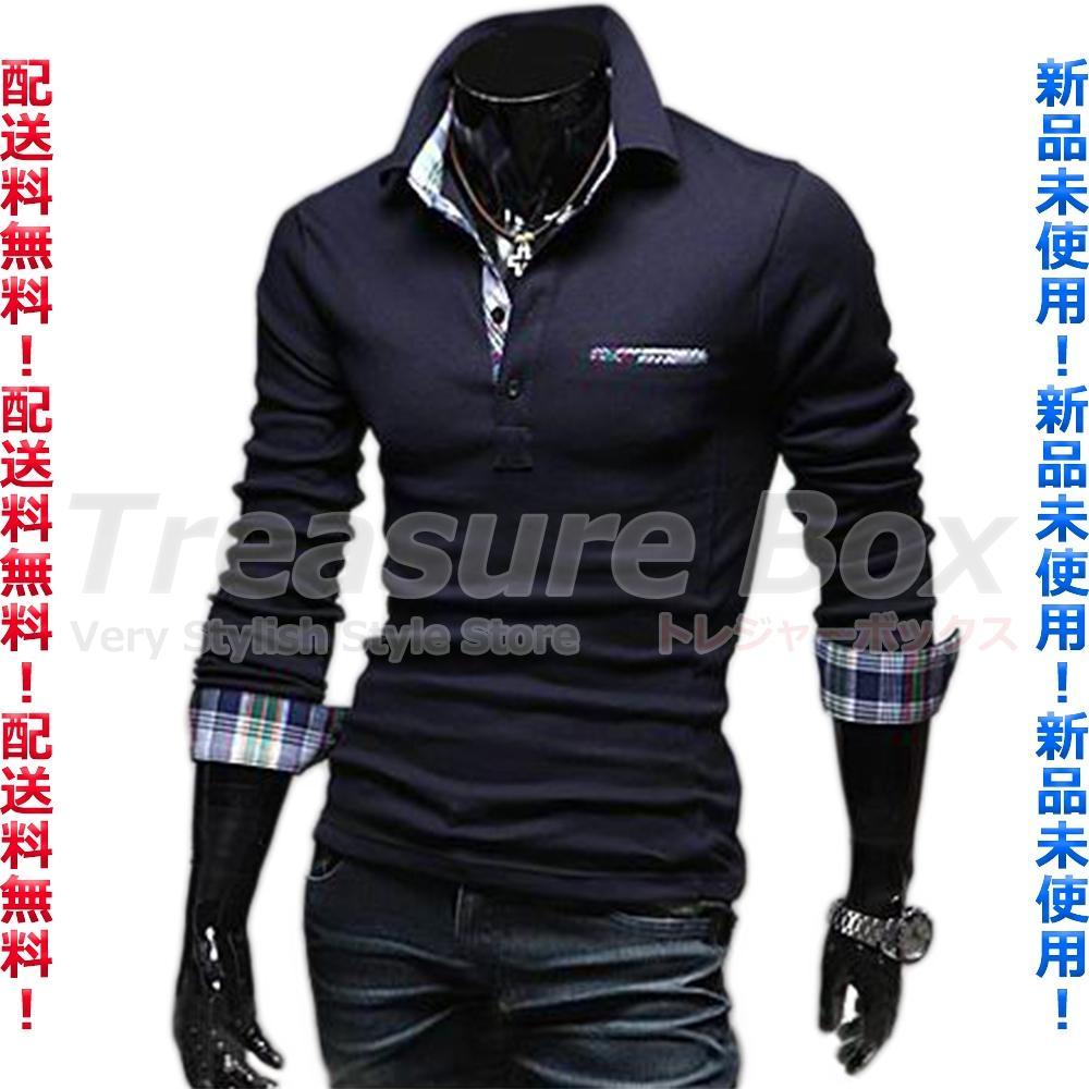c04cba2aeeca63 メルカリ - ブルー ゴルフウェア メンズ ポロシャツ 長袖 重ね着 ...