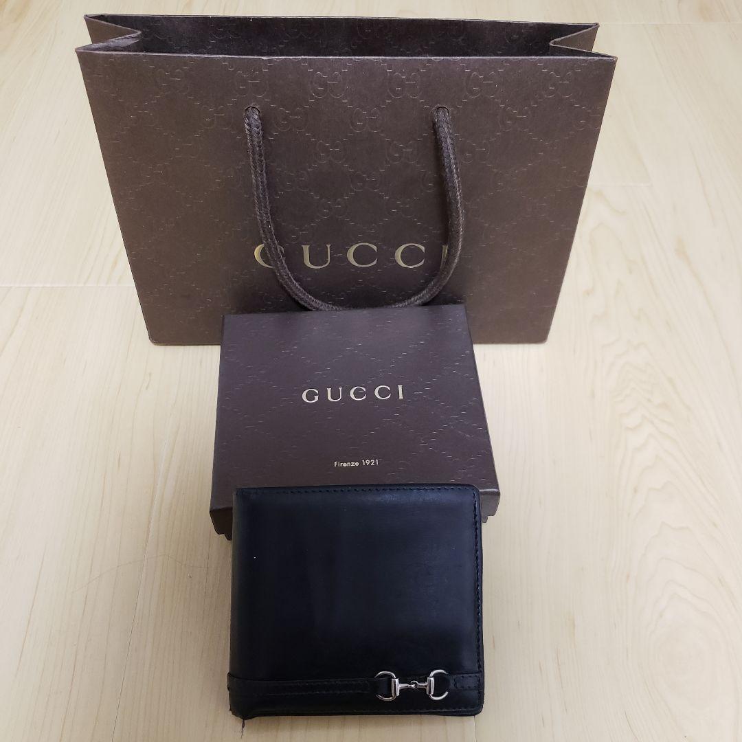 finest selection 3a02e 4a358 GUCCI メンズ 二つ折り財布 ホースビット(¥2,800) - メルカリ スマホでかんたん フリマアプリ