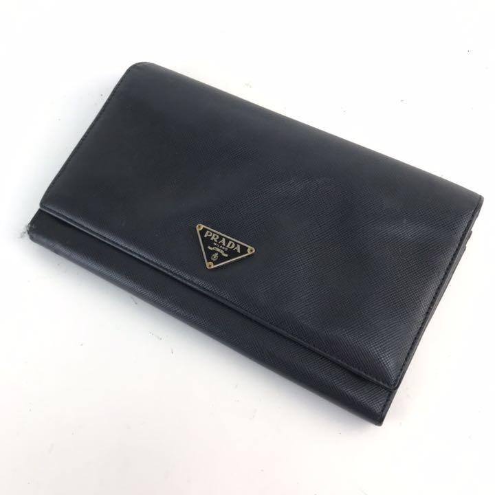 buy popular 16789 b927f ❤️セール❤️ プラダ PRADA 二つ折り長財布 レディース ブラック(¥4,980) - メルカリ スマホでかんたん フリマアプリ