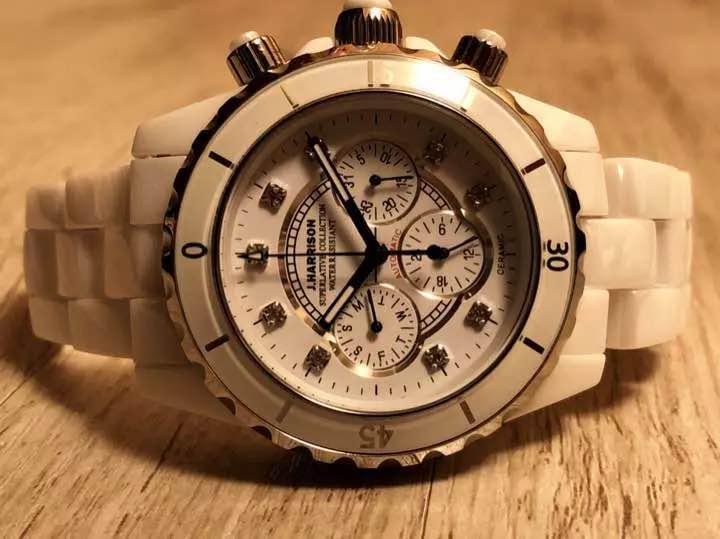 new concept 34d35 21160 販売価格9.5万 セラミック 自動巻 クロノジョンハリソン腕時計(¥4,500) - メルカリ スマホでかんたん フリマアプリ