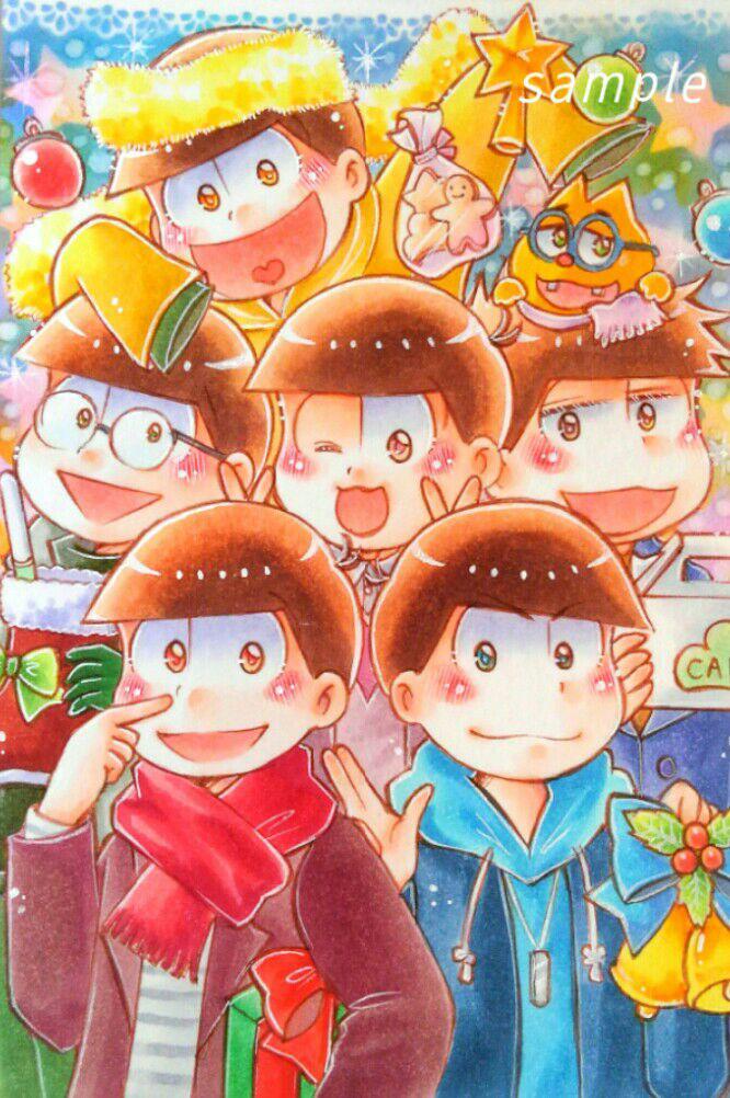 メルカリ おそ松さん手描きイラスト6つ子 ハンドメイド 3000