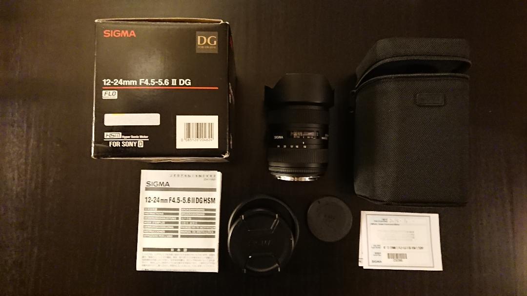 メルカリ Sigma 12 24mm F4 5 5 6 Ii Dg Hsm ソニー用 レンズ ズーム 58 340 中古や未使用のフリマ