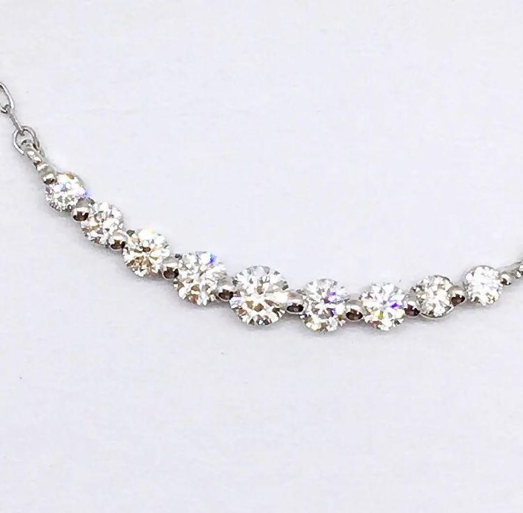 【新品】H&C  ダイヤモンド ネックレス 0.2ct  プラチナ  ライン