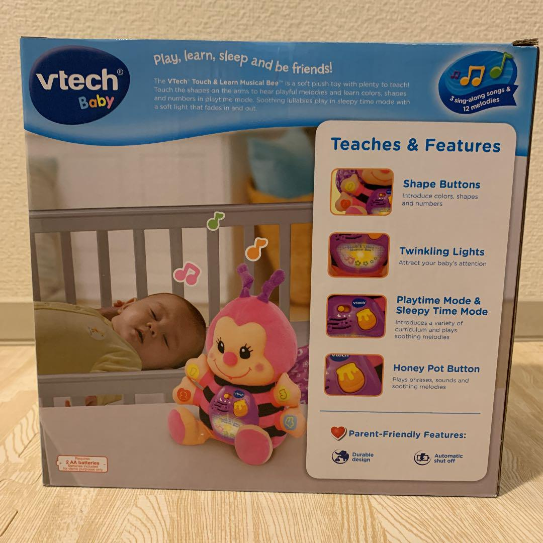VTech Touch /& Learn Musical Bee Toy 6+ mos. with 3 Sing-along songs