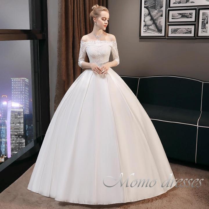 0c15fdc3bfaaf 新品花嫁 ドレス ウエディングドレス シンプルドレスパーティードレスMO217