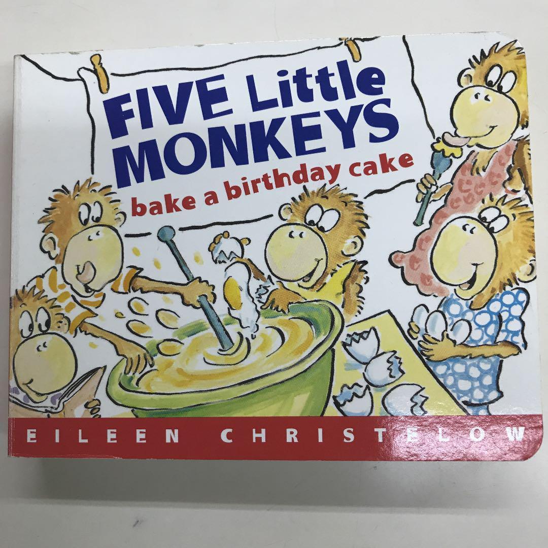 Terrific Five Little Monkeys Bake A Birthday Cake 700 Personalised Birthday Cards Vishlily Jamesorg