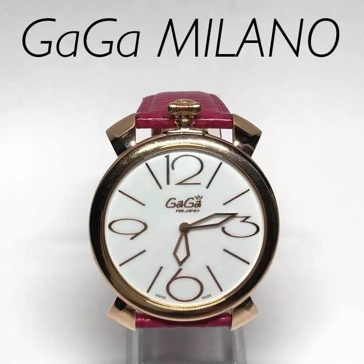 differently 61aed 2d36c GAGA MILANO ガガミラノ マヌアーレ シン 5091 ピンクゴールド(¥34,800) - メルカリ スマホでかんたん フリマアプリ