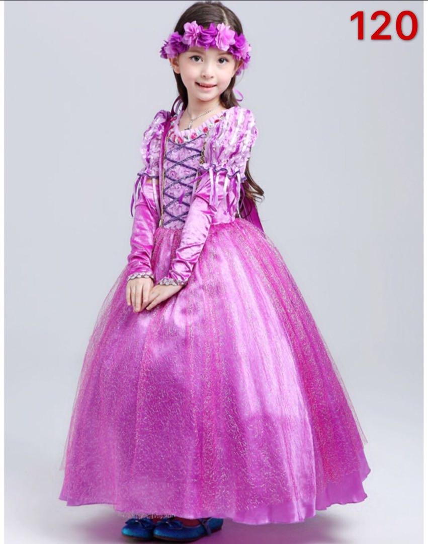 dd83688c806b7 メルカリ - 新品 キッズ プリンセス ドレス 120 女の子 コスプレ3点 ...
