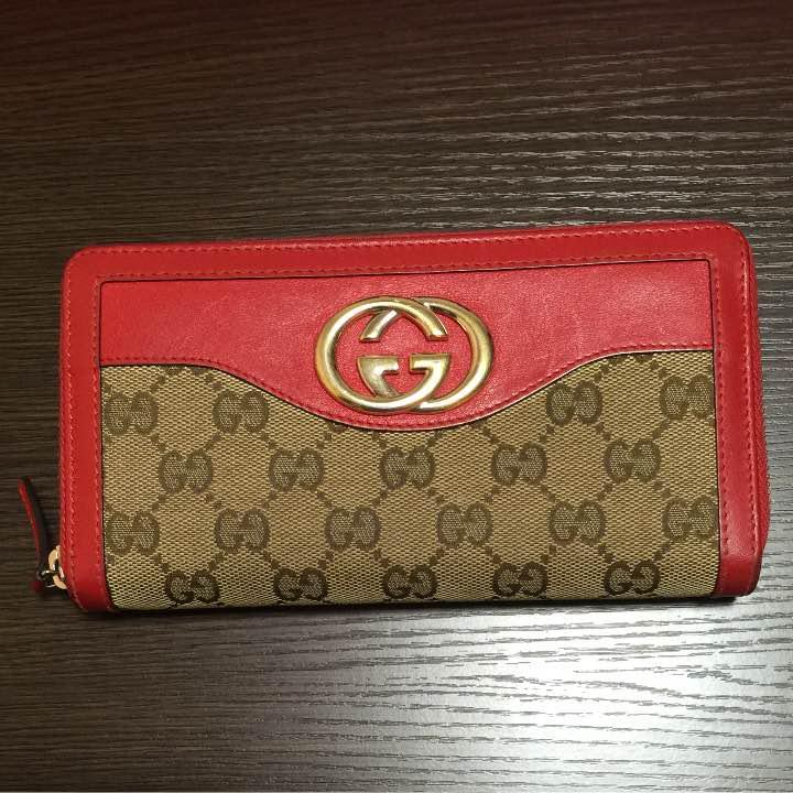 buy popular eea34 0bf57 GUCCI レディース 赤財布(¥12,000) - メルカリ スマホでかんたん フリマアプリ