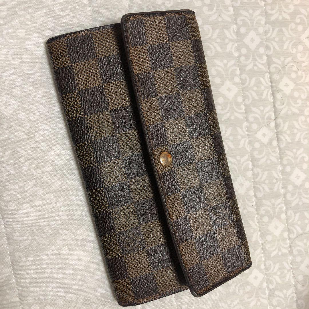 finest selection 15942 1ba80 Louis Vuitton ルイヴィトン 長財布 ダミエ ポルトフォイユ・サラ(¥8,555) - メルカリ スマホでかんたん フリマアプリ