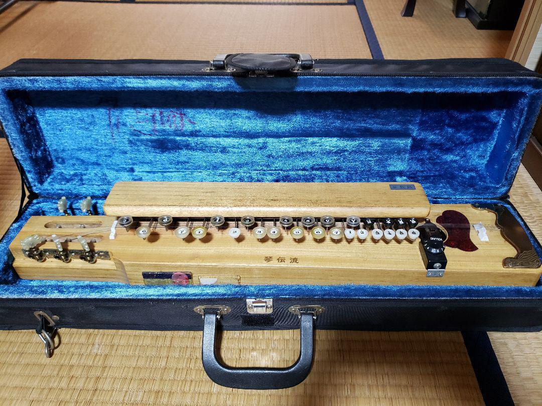 Used Kotodensyo Taisho Koto Shikishima Hard Case With Practice Music