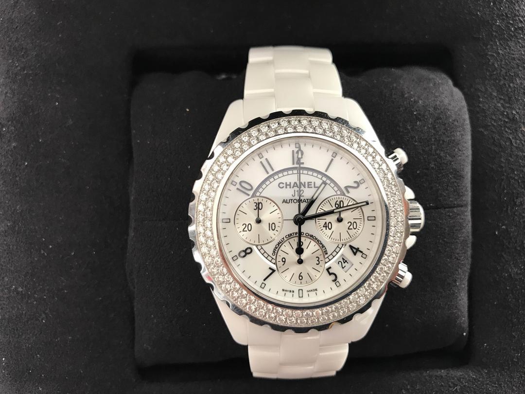 211e45898dcd メルカリ - シャネル J12 クロノグラフ ダイヤベゼル 美品 【腕時計 ...