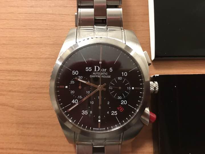 separation shoes 2c924 f1f44 Dior ディオールオム 腕時計 シフルルージュ クリスチャンディオール(¥140,000) - メルカリ スマホでかんたん フリマアプリ