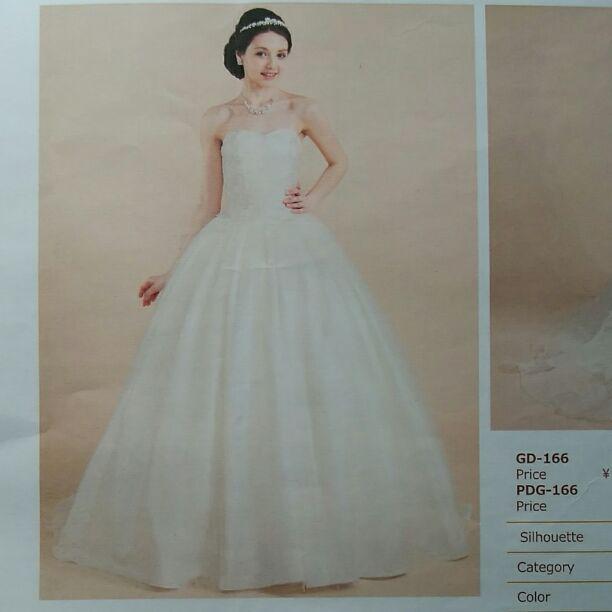 2510e3215aa21 メルカリ - ワタベ ウェディングドレス GD-166 (¥98