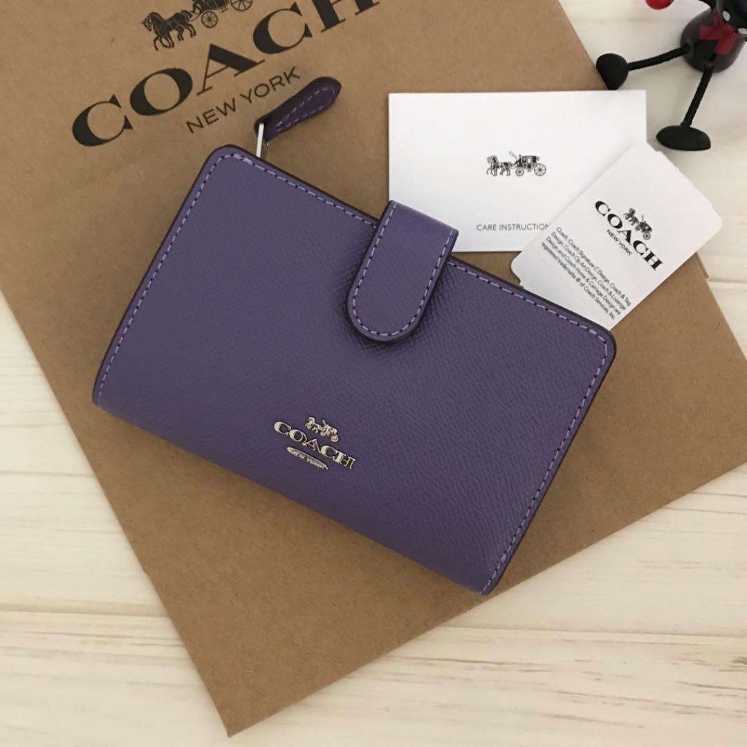 new style f3f70 8d731 新品 COACH コーチ 財布 パープル(¥12,800) - メルカリ スマホでかんたん フリマアプリ