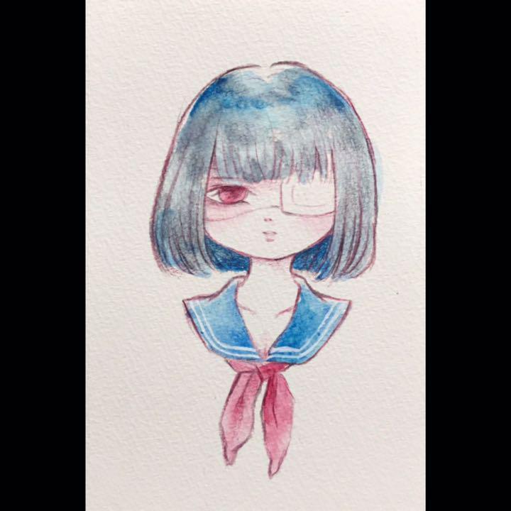 メルカリ 女の子 イラスト 病み アート写真 399 中古や未使用