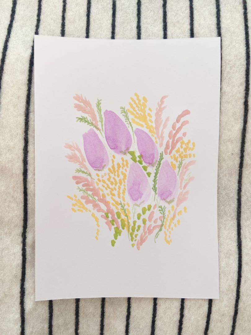 メルカリ お花 イラスト 花束 韓国インテリア インテリア ポスター お花 手書き 絵 アート 写真 400 中古や未使用のフリマ