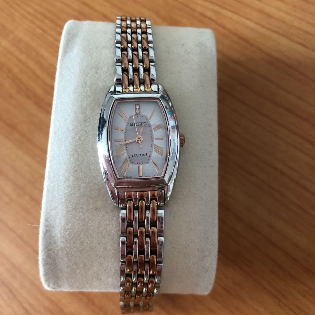 sale retailer b76d5 68216 セイコー エクセリーヌ 腕時計 レディース ソーラー ダイヤ(¥9,000) - メルカリ スマホでかんたん フリマアプリ