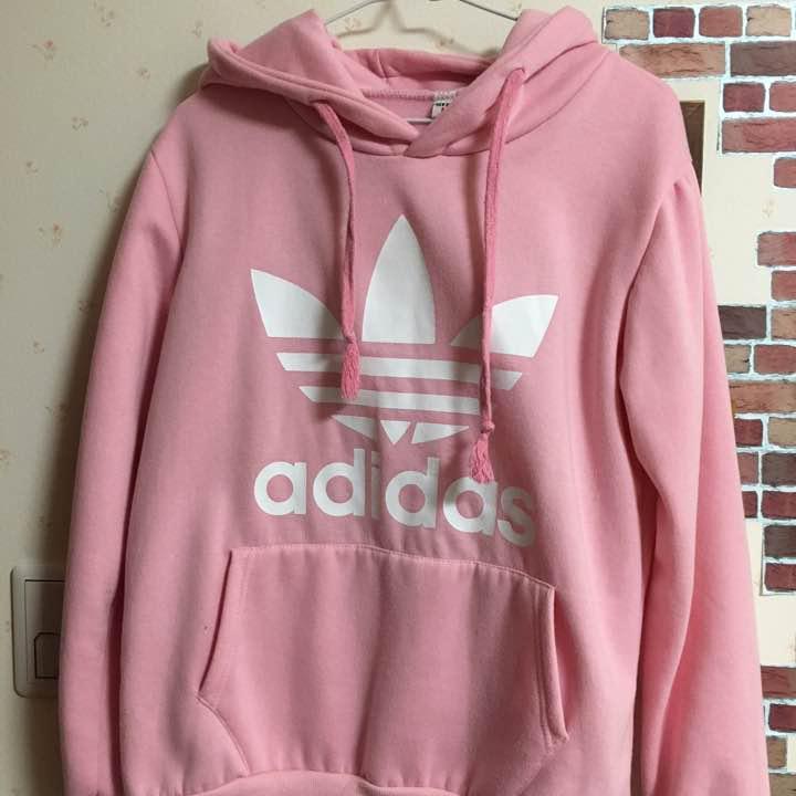5aca5fd0409 メルカリ - adidasのパーカー、韓国、ピンク 【アディダス】 (¥2,500 ...